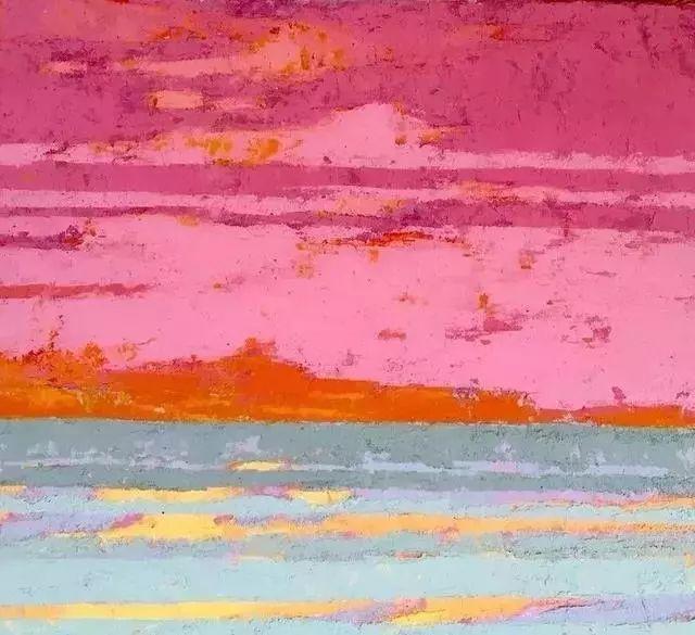 一把刮刀提炼出的大自然色彩,美国画家杰西卡·菲尔兹插图23