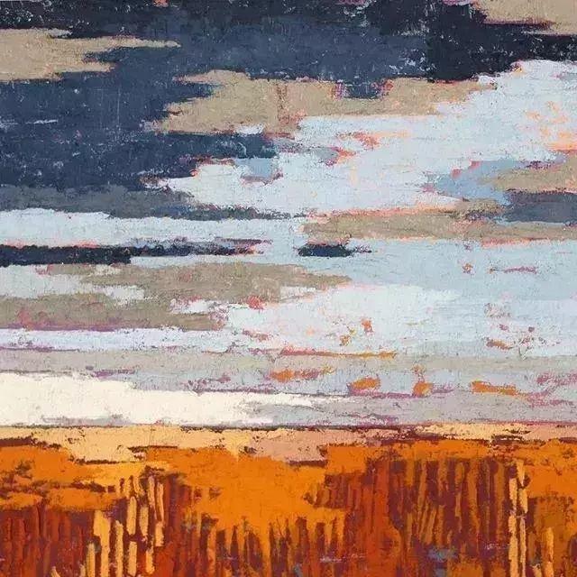 一把刮刀提炼出的大自然色彩,美国画家杰西卡·菲尔兹插图24
