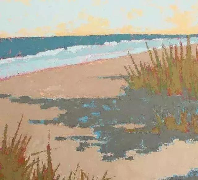 一把刮刀提炼出的大自然色彩,美国画家杰西卡·菲尔兹插图25