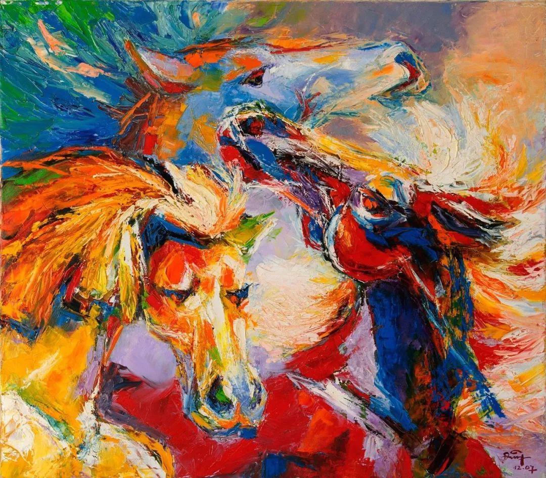 热情奔放的色彩,越南艺术家麦惠东插图