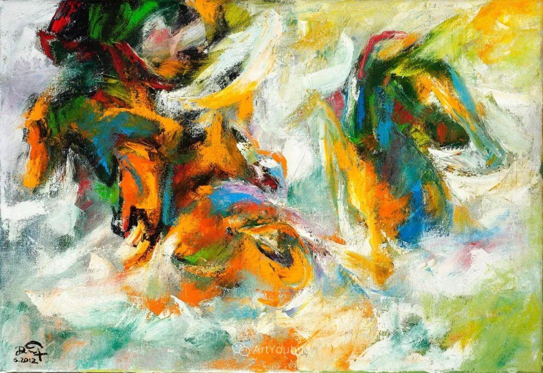 热情奔放的色彩,越南艺术家麦惠东插图1