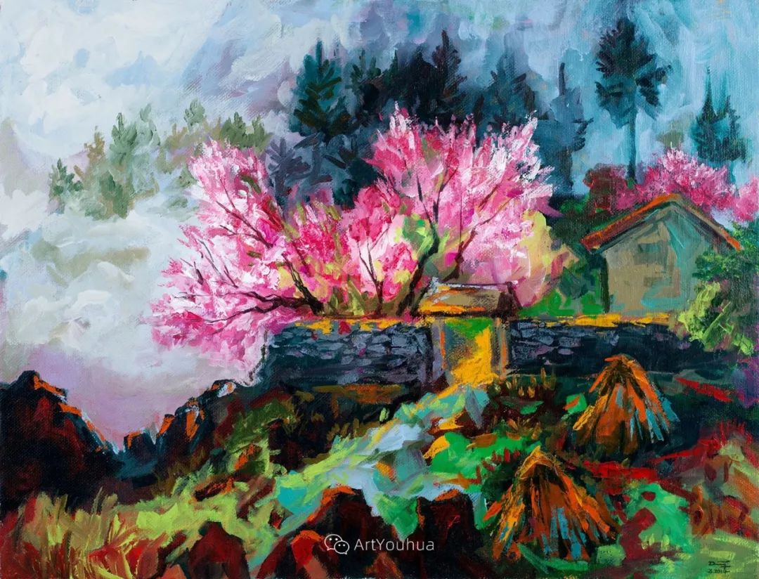 热情奔放的色彩,越南艺术家麦惠东插图2