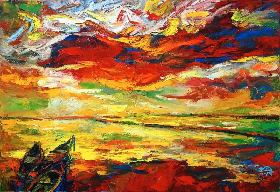 热情奔放的色彩,越南艺术家麦惠东插图4