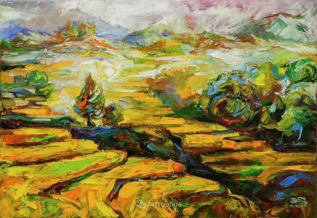 热情奔放的色彩,越南艺术家麦惠东插图5