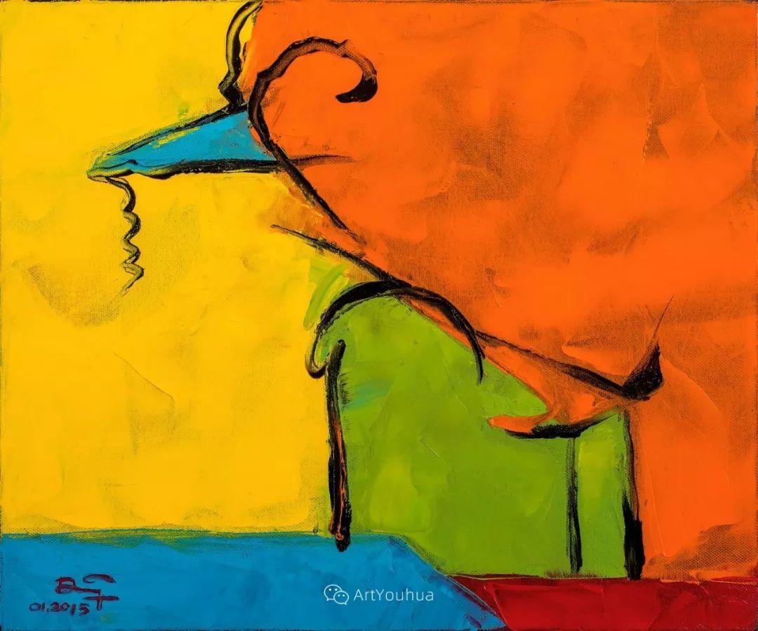 热情奔放的色彩,越南艺术家麦惠东插图9