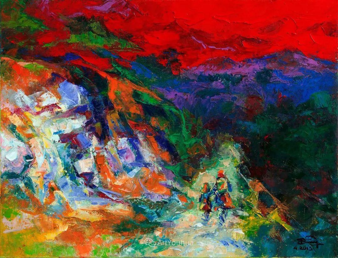 热情奔放的色彩,越南艺术家麦惠东插图10