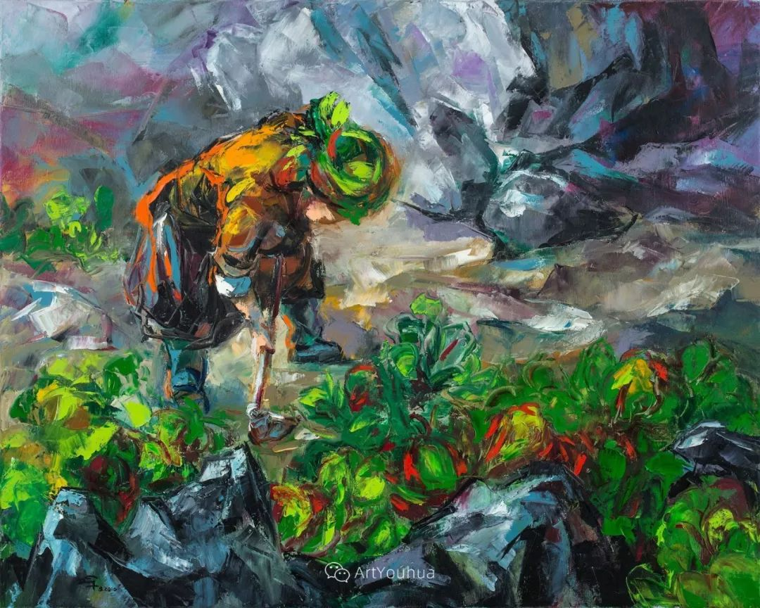 热情奔放的色彩,越南艺术家麦惠东插图11