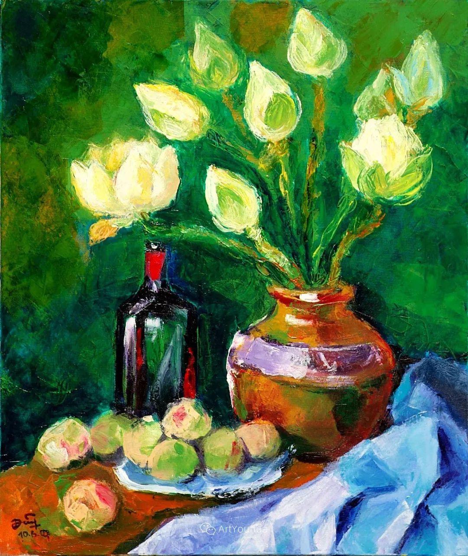 热情奔放的色彩,越南艺术家麦惠东插图16