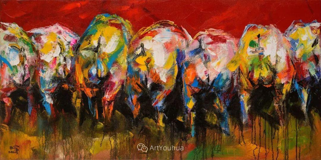 热情奔放的色彩,越南艺术家麦惠东插图25
