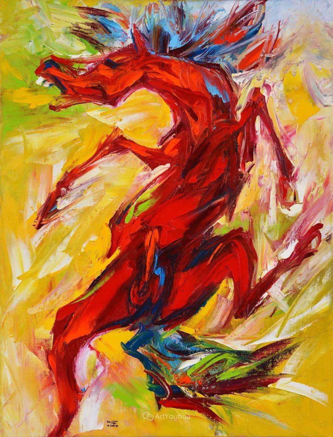 热情奔放的色彩,越南艺术家麦惠东插图28