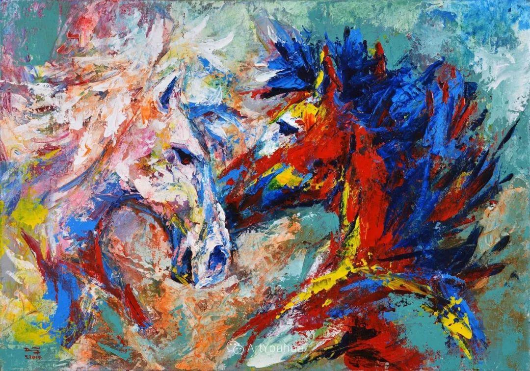 热情奔放的色彩,越南艺术家麦惠东插图29