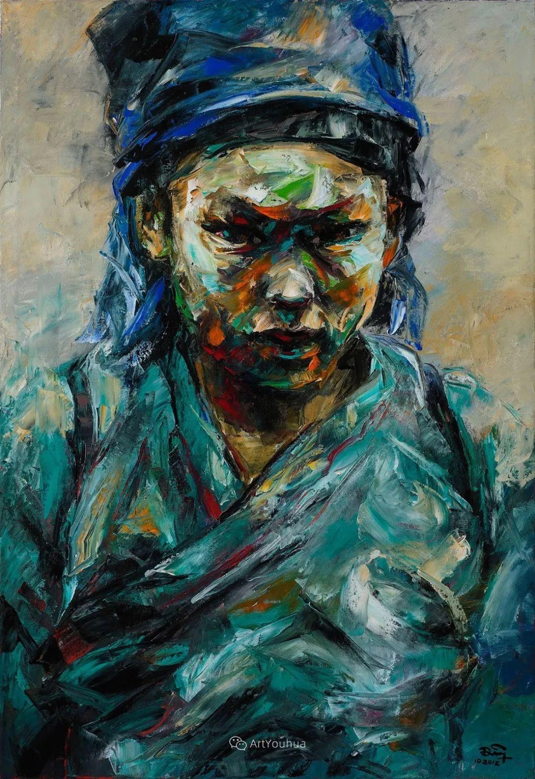热情奔放的色彩,越南艺术家麦惠东插图46
