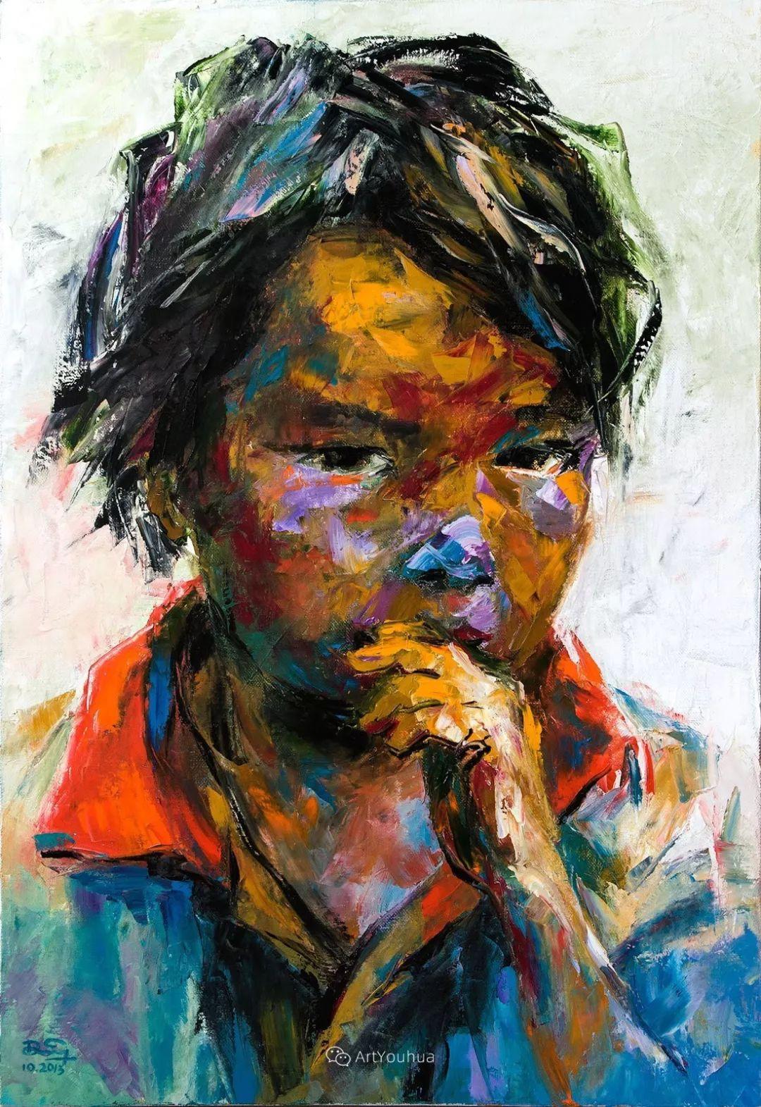 热情奔放的色彩,越南艺术家麦惠东插图52