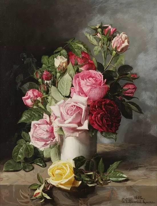 完美的色调,经典花卉作品75幅插图103