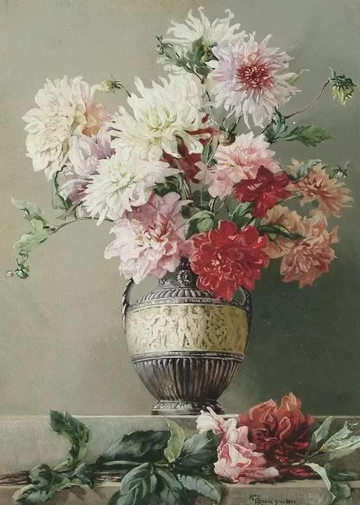 完美的色调,经典花卉作品75幅插图119