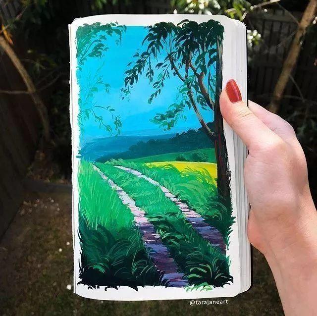 速写本里的美腻风景,看完仿佛置身于自然美丽的大森林插图3