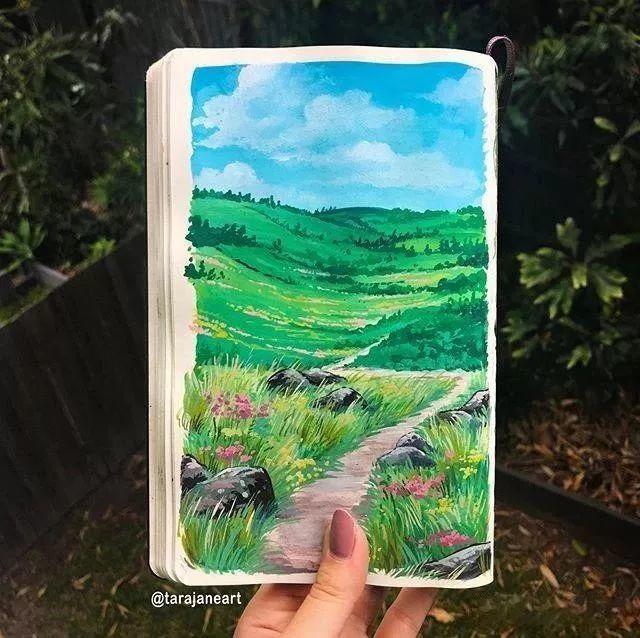 速写本里的美腻风景,看完仿佛置身于自然美丽的大森林插图5