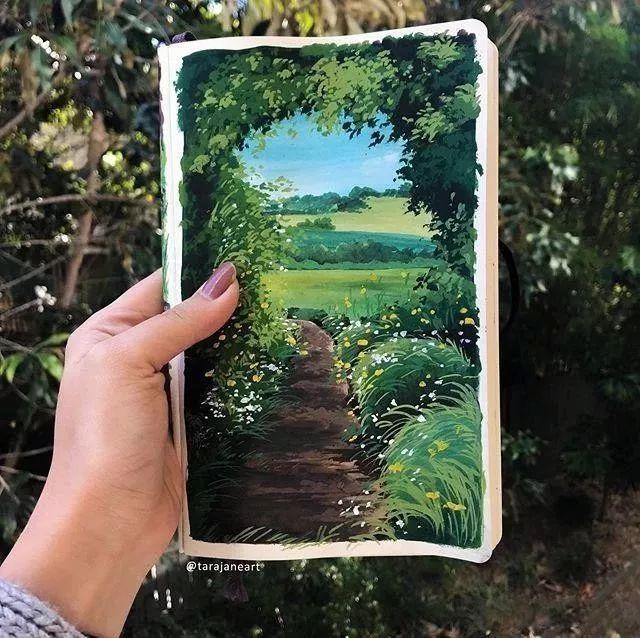 速写本里的美腻风景,看完仿佛置身于自然美丽的大森林插图9