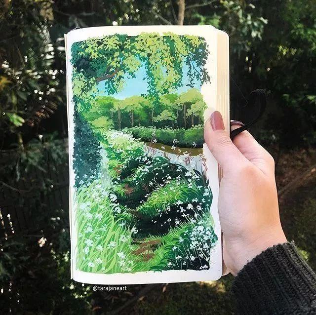 速写本里的美腻风景,看完仿佛置身于自然美丽的大森林插图11