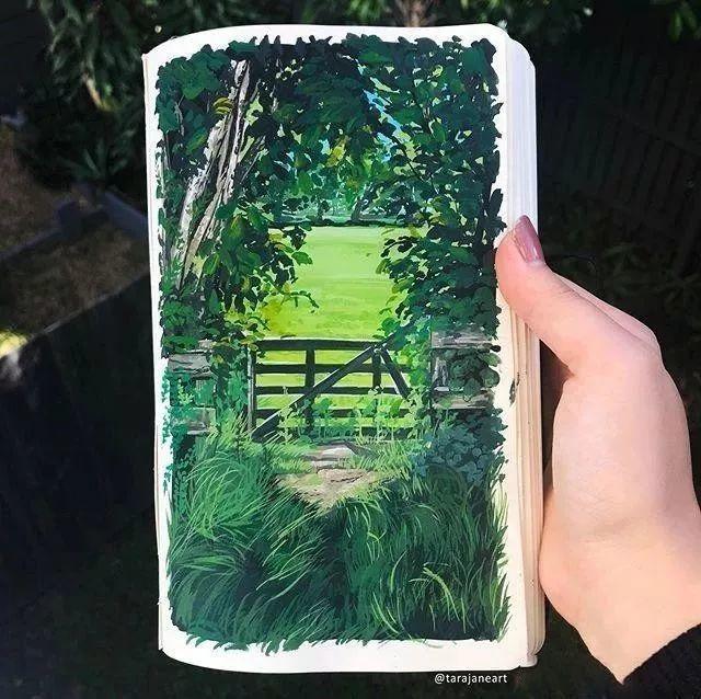 速写本里的美腻风景,看完仿佛置身于自然美丽的大森林插图13