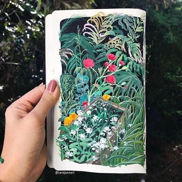 速写本里的美腻风景,看完仿佛置身于自然美丽的大森林插图15