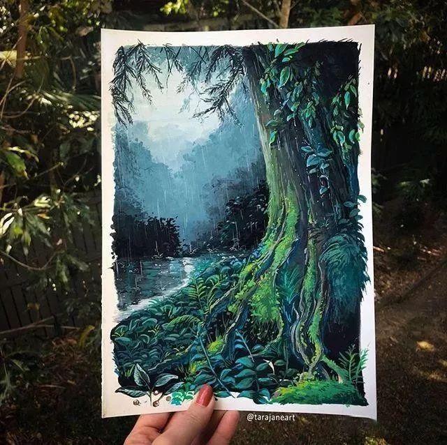 速写本里的美腻风景,看完仿佛置身于自然美丽的大森林插图17