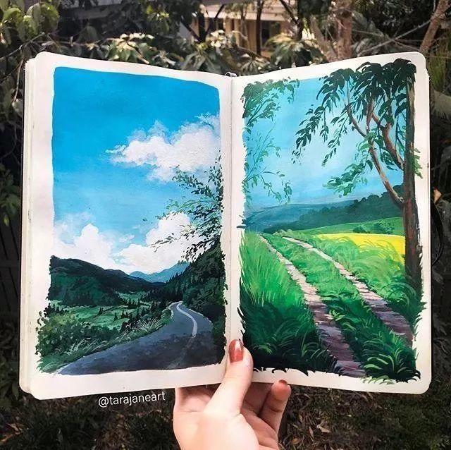 速写本里的美腻风景,看完仿佛置身于自然美丽的大森林插图21