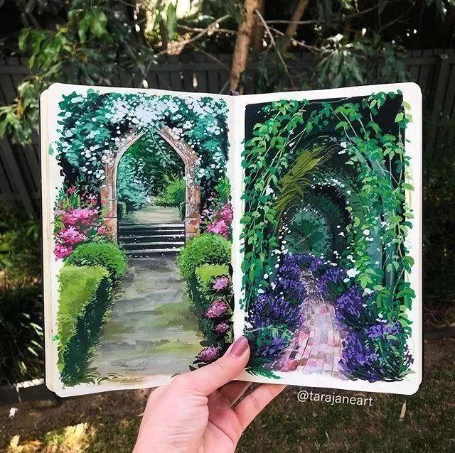 速写本里的美腻风景,看完仿佛置身于自然美丽的大森林插图25