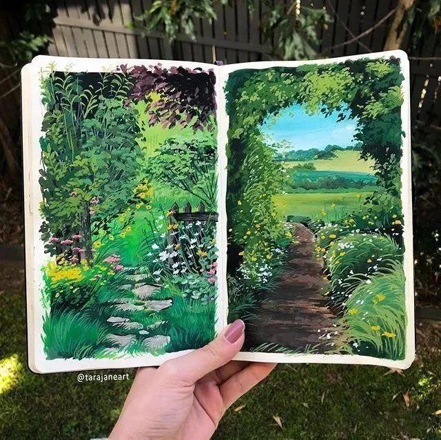 速写本里的美腻风景,看完仿佛置身于自然美丽的大森林插图27