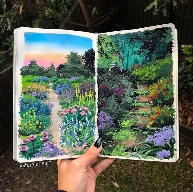 速写本里的美腻风景,看完仿佛置身于自然美丽的大森林插图29