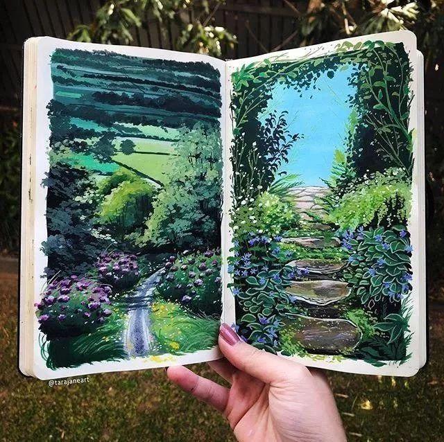 速写本里的美腻风景,看完仿佛置身于自然美丽的大森林插图35