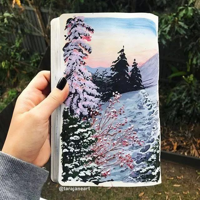 速写本里的美腻风景,看完仿佛置身于自然美丽的大森林插图43