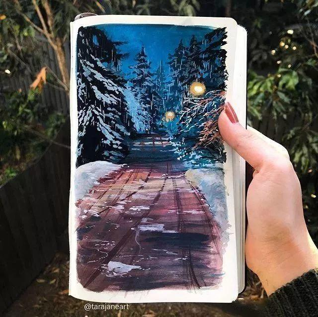 速写本里的美腻风景,看完仿佛置身于自然美丽的大森林插图45
