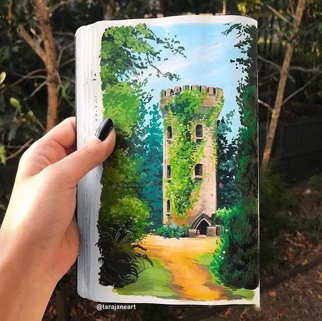 速写本里的美腻风景,看完仿佛置身于自然美丽的大森林插图47