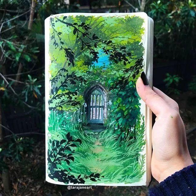 速写本里的美腻风景,看完仿佛置身于自然美丽的大森林插图49
