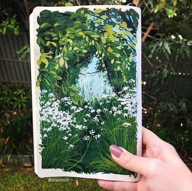速写本里的美腻风景,看完仿佛置身于自然美丽的大森林插图51