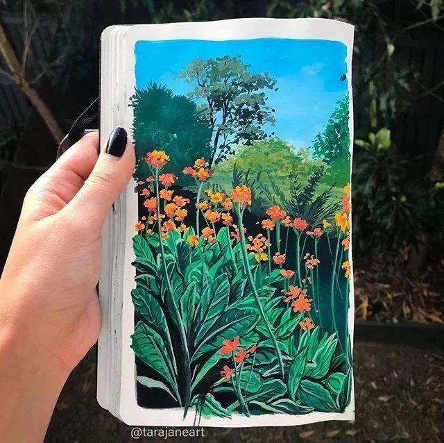 速写本里的美腻风景,看完仿佛置身于自然美丽的大森林插图55