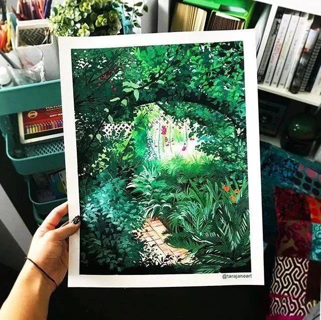 速写本里的美腻风景,看完仿佛置身于自然美丽的大森林插图63