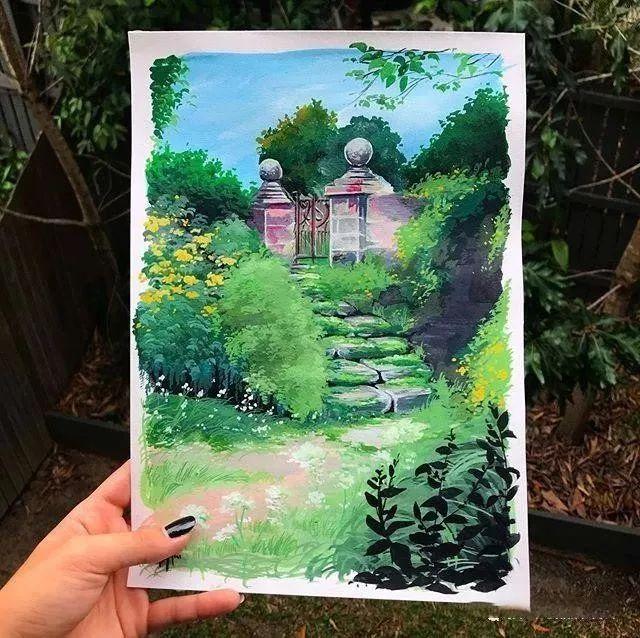 速写本里的美腻风景,看完仿佛置身于自然美丽的大森林插图65