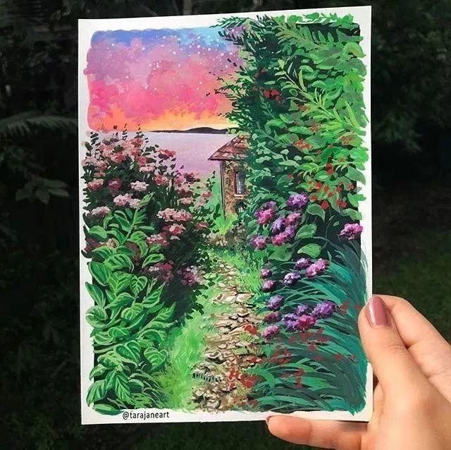 速写本里的美腻风景,看完仿佛置身于自然美丽的大森林插图67