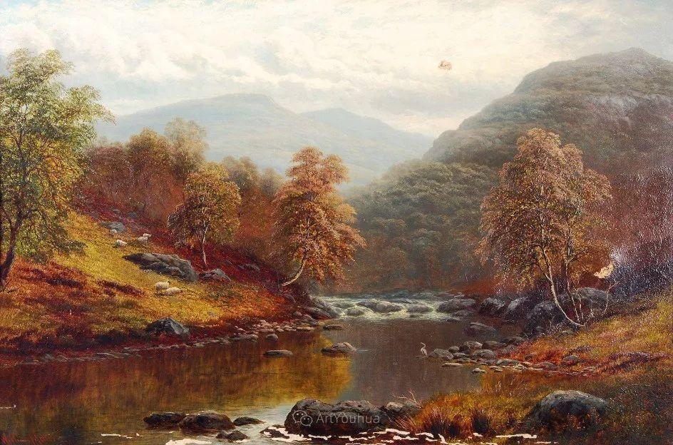 沐浴在温暖、明亮阳光下的原始风景,英国艺术家威廉·梅勒插图4