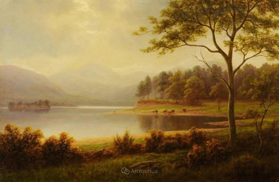 沐浴在温暖、明亮阳光下的原始风景,英国艺术家威廉·梅勒插图5