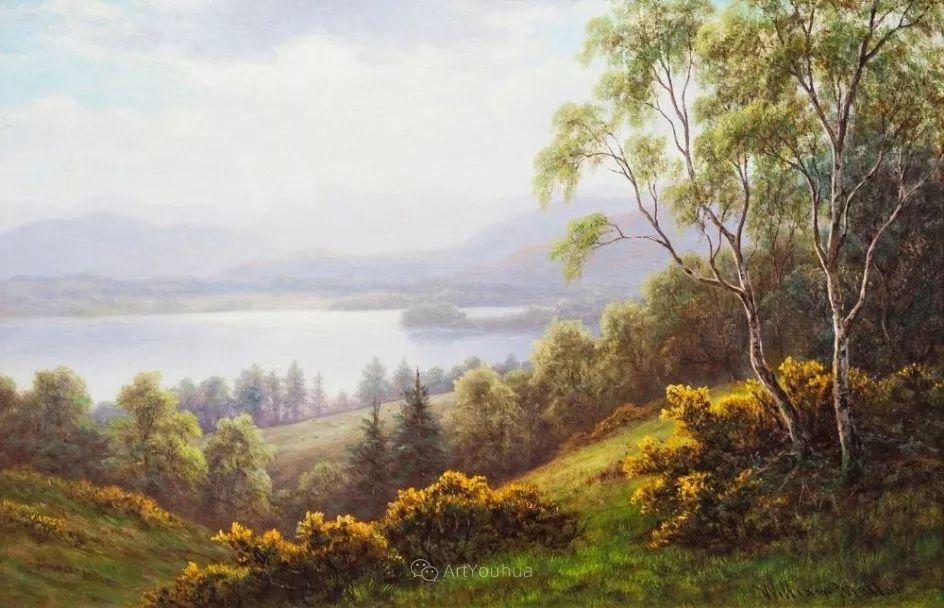 沐浴在温暖、明亮阳光下的原始风景,英国艺术家威廉·梅勒插图6