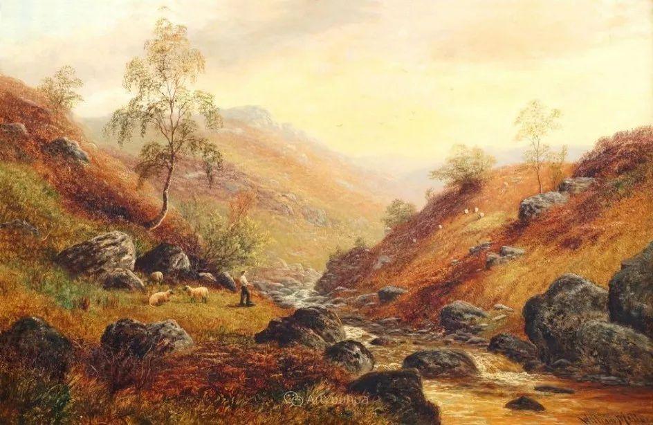 沐浴在温暖、明亮阳光下的原始风景,英国艺术家威廉·梅勒插图7