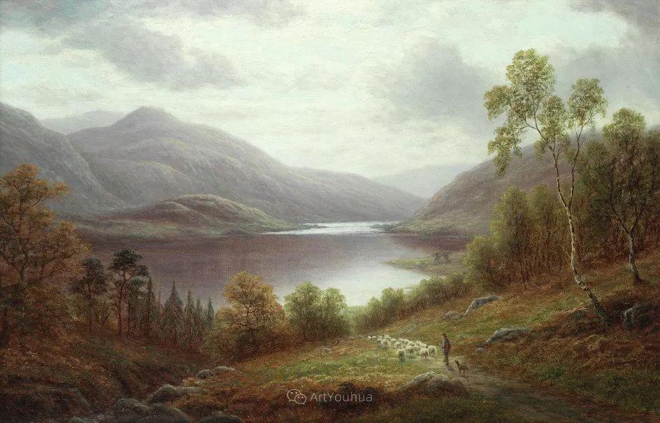 沐浴在温暖、明亮阳光下的原始风景,英国艺术家威廉·梅勒插图9