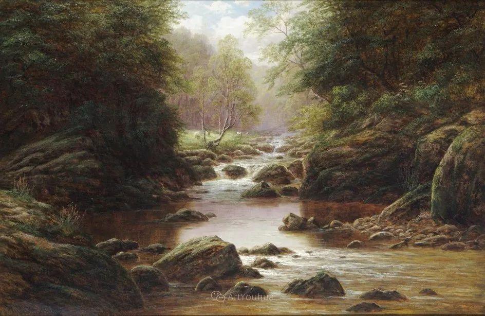 沐浴在温暖、明亮阳光下的原始风景,英国艺术家威廉·梅勒插图10