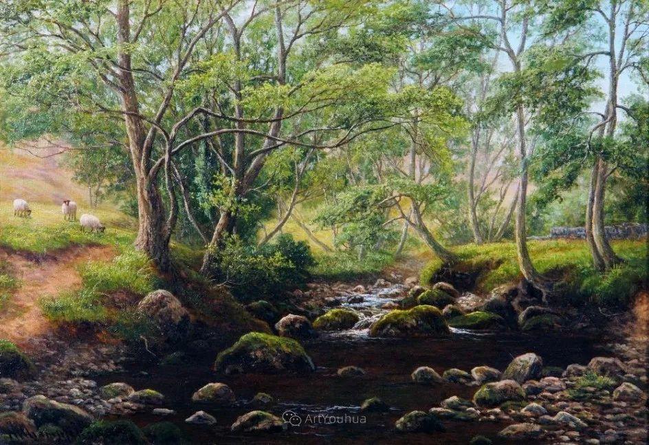 沐浴在温暖、明亮阳光下的原始风景,英国艺术家威廉·梅勒插图11