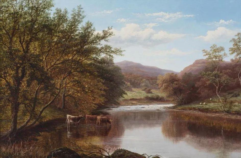 沐浴在温暖、明亮阳光下的原始风景,英国艺术家威廉·梅勒插图13