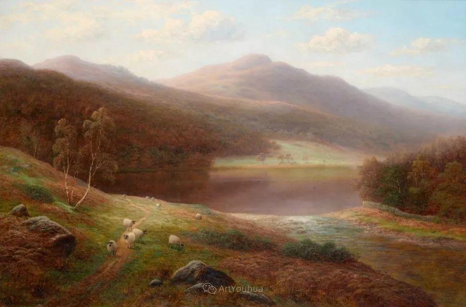 沐浴在温暖、明亮阳光下的原始风景,英国艺术家威廉·梅勒插图15
