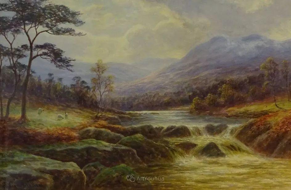沐浴在温暖、明亮阳光下的原始风景,英国艺术家威廉·梅勒插图16